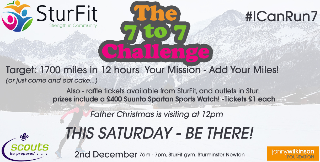 Sturfit 7 to 7-this saturday